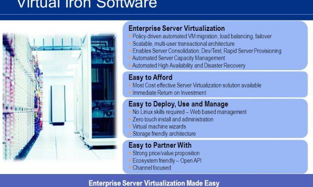 Virtual Iron Softwarepara la virtualización